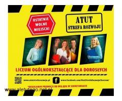 Bezpłatne Liceum Ogólnokształcące dla Dorosłych w Chorzowie !